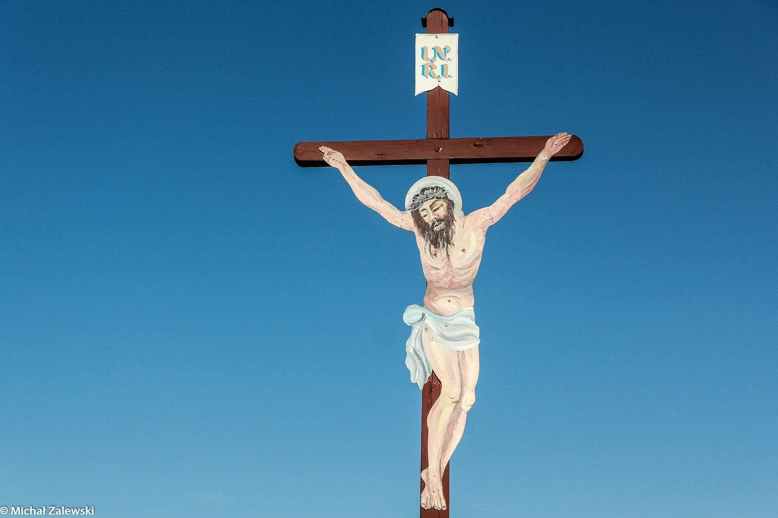 Krzyż z Chrysusem wyciętym z blachy, Stobno pow. wołowski