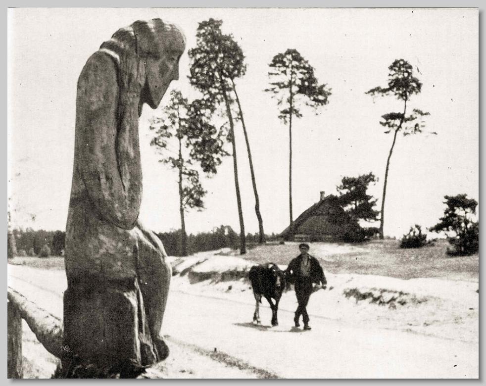 Chrystus Frasobliwy, Durlasy na Kurpiach, lata 50. XX w.