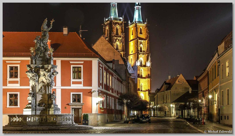 Pomnik św. Jana Nepomucena na Ostrowiu Tumskim we Wrocławiu